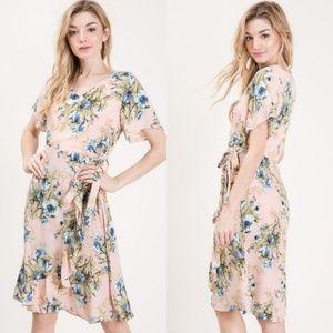 NEW Elizabeth Floral Dress - Peach